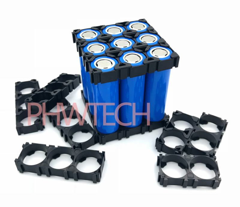 1x2 2x3 Cell 18650 Batteries Spacer Radiating Shell Plastic
